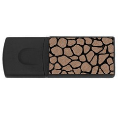 Skin1 Black Marble & Brown Colored Pencil Usb Flash Drive Rectangular (4 Gb) by trendistuff