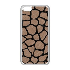 Skin1 Black Marble & Brown Colored Pencil Apple Iphone 5c Seamless Case (white) by trendistuff