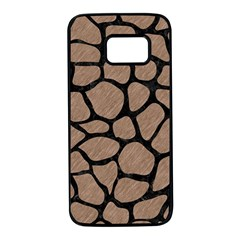 Skin1 Black Marble & Brown Colored Pencil Samsung Galaxy S7 Black Seamless Case by trendistuff