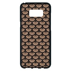 Scales3 Black Marble & Brown Colored Pencil (r) Samsung Galaxy S8 Plus Black Seamless Case by trendistuff