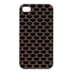 Scales3 Black Marble & Brown Colored Pencil Apple Iphone 4/4s Hardshell Case by trendistuff