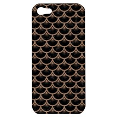 Scales3 Black Marble & Brown Colored Pencil Apple Iphone 5 Hardshell Case by trendistuff