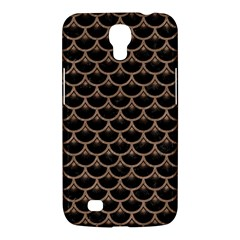 Scales3 Black Marble & Brown Colored Pencil Samsung Galaxy Mega 6 3  I9200 Hardshell Case by trendistuff