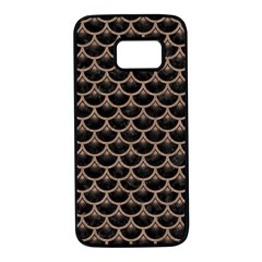 Scales3 Black Marble & Brown Colored Pencil Samsung Galaxy S7 Black Seamless Case by trendistuff