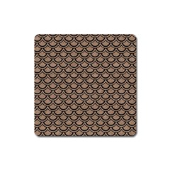 Scales2 Black Marble & Brown Colored Pencil (r) Magnet (square) by trendistuff