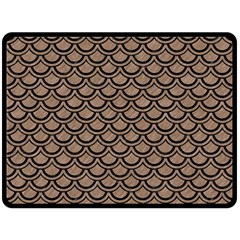 Scales2 Black Marble & Brown Colored Pencil (r) Fleece Blanket (large) by trendistuff