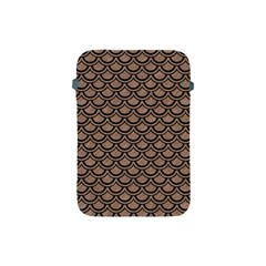 Scales2 Black Marble & Brown Colored Pencil (r) Apple Ipad Mini Protective Soft Case by trendistuff