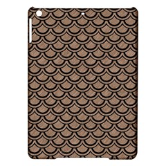 Scales2 Black Marble & Brown Colored Pencil (r) Apple Ipad Air Hardshell Case