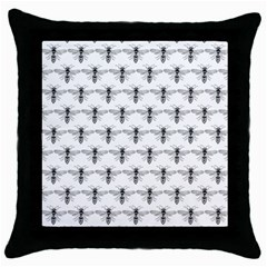 Bee Wasp Sting Throw Pillow Case (black) by Mariart