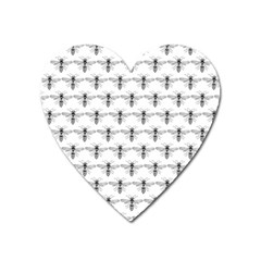 Bee Wasp Sting Heart Magnet by Mariart