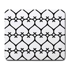 Heart Background Wire Frame Black Wireframe Large Mousepads by Mariart