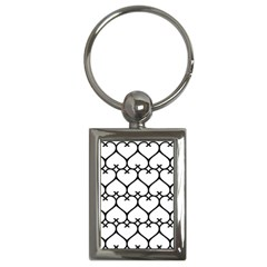 Heart Background Wire Frame Black Wireframe Key Chains (rectangle)  by Mariart