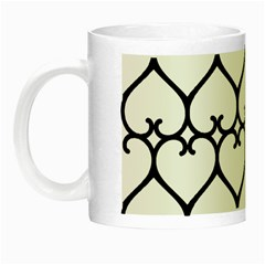 Heart Background Wire Frame Black Wireframe Night Luminous Mugs by Mariart