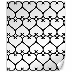 Heart Background Wire Frame Black Wireframe Canvas 8  X 10