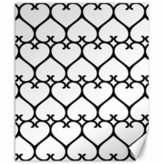 Heart Background Wire Frame Black Wireframe Canvas 20  X 24