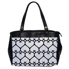 Heart Background Wire Frame Black Wireframe Office Handbags by Mariart