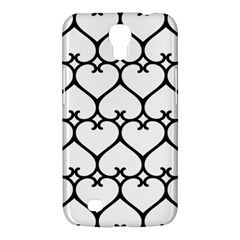 Heart Background Wire Frame Black Wireframe Samsung Galaxy Mega 6 3  I9200 Hardshell Case by Mariart