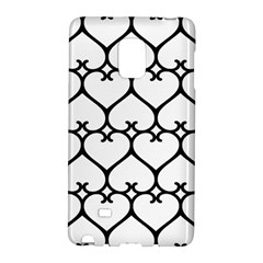 Heart Background Wire Frame Black Wireframe Galaxy Note Edge by Mariart