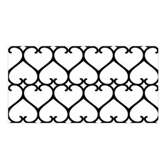 Heart Background Wire Frame Black Wireframe Satin Shawl by Mariart