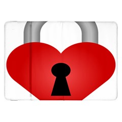 Heart Padlock Red Love Samsung Galaxy Tab 8 9  P7300 Flip Case by Mariart