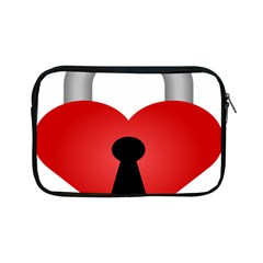 Heart Padlock Red Love Apple Ipad Mini Zipper Cases by Mariart