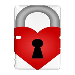 Heart Padlock Red Love Galaxy Note 1 by Mariart