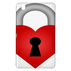 Heart Padlock Red Love Samsung Galaxy Tab Pro 8 4 Hardshell Case by Mariart