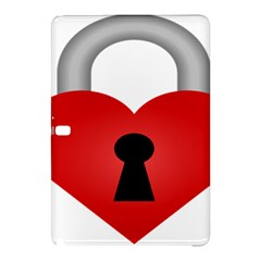 Heart Padlock Red Love Samsung Galaxy Tab Pro 12 2 Hardshell Case by Mariart