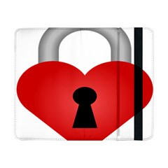 Heart Padlock Red Love Samsung Galaxy Tab Pro 8 4  Flip Case by Mariart