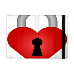 Heart Padlock Red Love Ipad Mini 2 Flip Cases by Mariart
