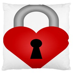Heart Padlock Red Love Standard Flano Cushion Case (two Sides) by Mariart