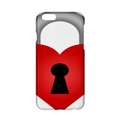 Heart Padlock Red Love Apple Iphone 6/6s Hardshell Case by Mariart