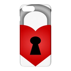 Heart Padlock Red Love Apple Iphone 7 Plus Hardshell Case by Mariart