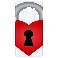 Heart Padlock Red Love Samsung C9 Pro Hardshell Case  by Mariart