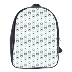 Glasses Black Blue School Bags(large)  by Mariart