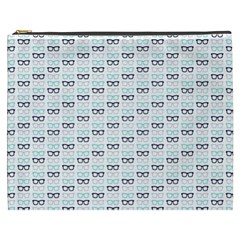 Glasses Black Blue Cosmetic Bag (xxxl)