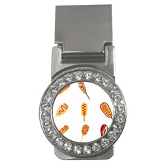 Hot Dog Buns Sate Sauce Bread Money Clips (cz)  by Mariart