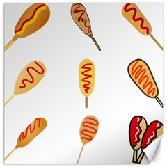Hot Dog Buns Sate Sauce Bread Canvas 16  X 16