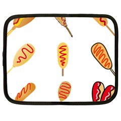 Hot Dog Buns Sate Sauce Bread Netbook Case (large) by Mariart