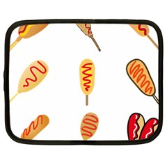 Hot Dog Buns Sate Sauce Bread Netbook Case (xxl)  by Mariart