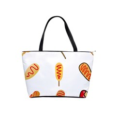 Hot Dog Buns Sate Sauce Bread Shoulder Handbags by Mariart