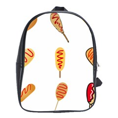 Hot Dog Buns Sate Sauce Bread School Bags(large)