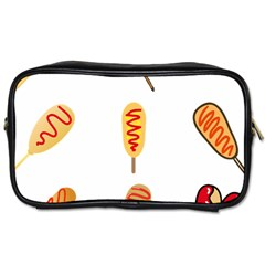 Hot Dog Buns Sate Sauce Bread Toiletries Bags by Mariart