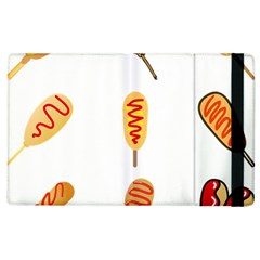 Hot Dog Buns Sate Sauce Bread Apple Ipad 2 Flip Case by Mariart