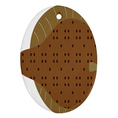 Illustrain Animals Reef Fish Sea Beach Water Seaword Brown Polka Ornament (oval) by Mariart