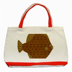 Illustrain Animals Reef Fish Sea Beach Water Seaword Brown Polka Classic Tote Bag (red)