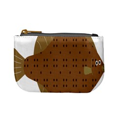 Illustrain Animals Reef Fish Sea Beach Water Seaword Brown Polka Mini Coin Purses by Mariart