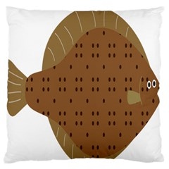 Illustrain Animals Reef Fish Sea Beach Water Seaword Brown Polka Large Flano Cushion Case (one Side) by Mariart