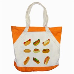 Hot Dog Buns Sauce Bread Accent Tote Bag by Mariart