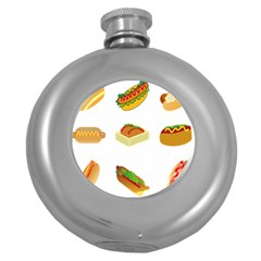 Hot Dog Buns Sauce Bread Round Hip Flask (5 Oz) by Mariart